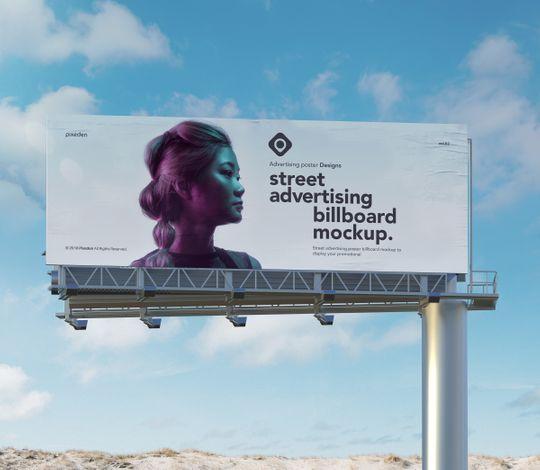 Advertising Psd Billboard Mockup Vol2