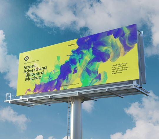 Advertising Psd Billboard Mockup