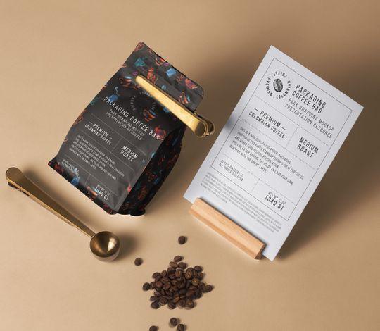 Coffee Bag Psd Packaging Mockup