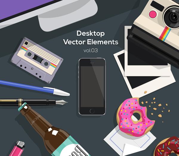 Desktop Flat Vector Objects Vol3