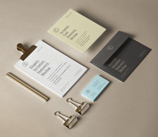 Elegant Invitation Stationery Mockup
