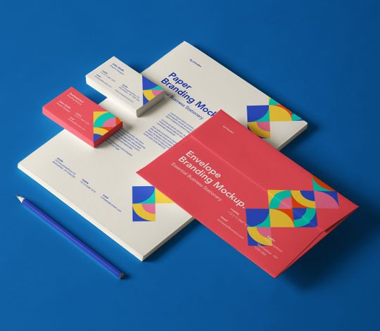 Essential Business Psd Stationery Mockup
