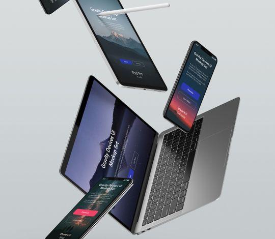 Gravity Psd Devices UI Mockup Set v3