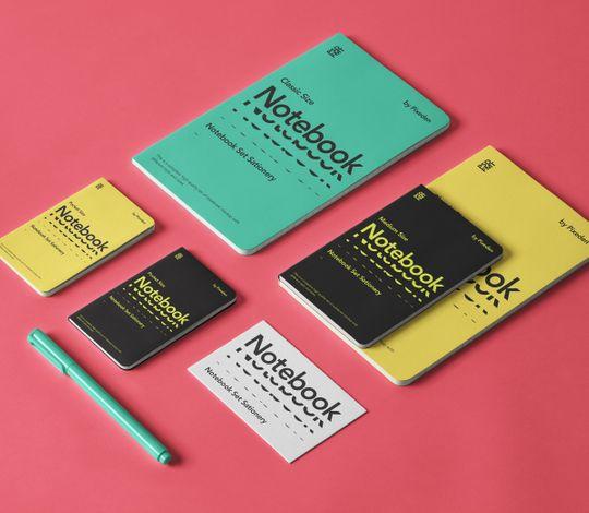 Notebooks Set Psd Stationery Mockup