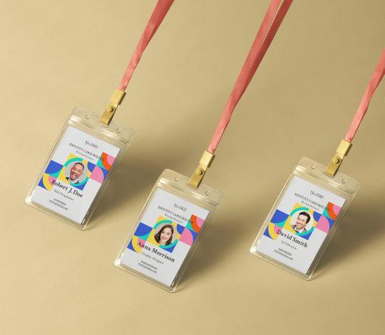 Plastic Psd ID Card Holder Mockup