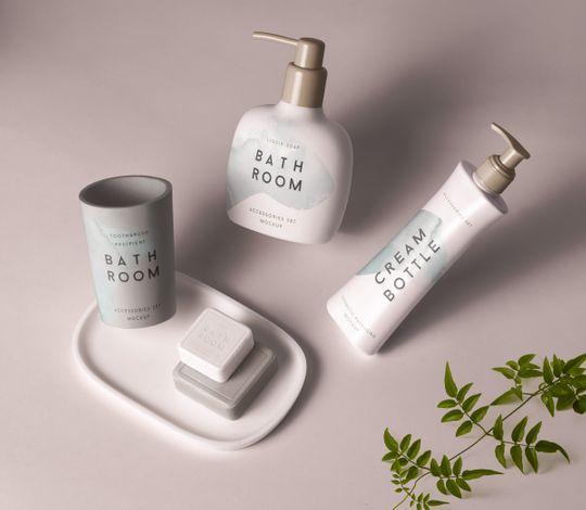 Psd Bathroom Cosmetics Mockup
