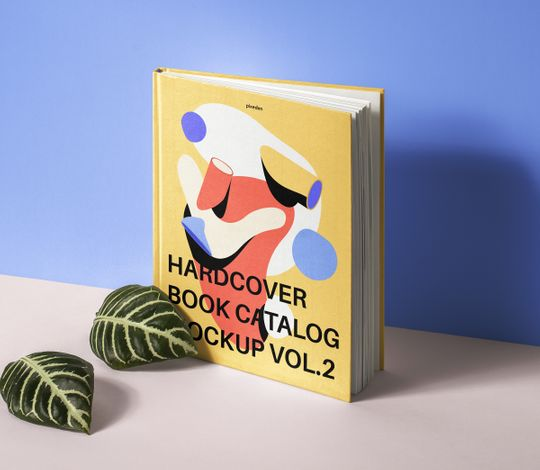 Psd Hardcover Book Catalog Mockup
