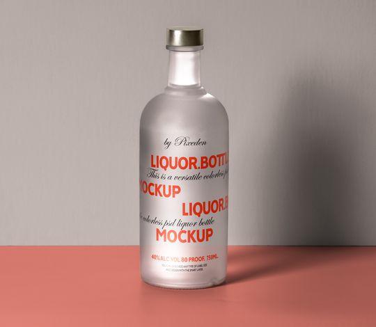 Psd Liquor Bottle Mockup Template