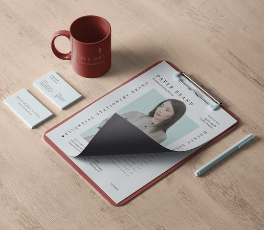 Psd Stationery Branding Mockup Vol 34