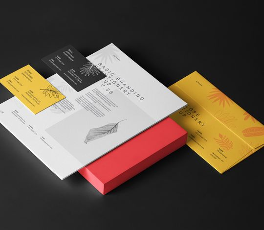 Psd Stationery Branding Mockup Vol 35