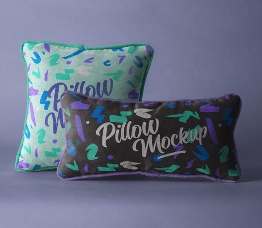 Psd Throw Pillow Mockup Set 2
