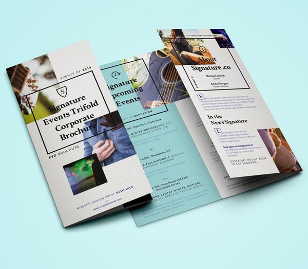 Signature Tri Fold Brochure Template