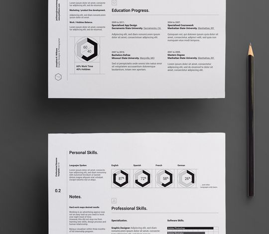 Simple Resume Template vol11