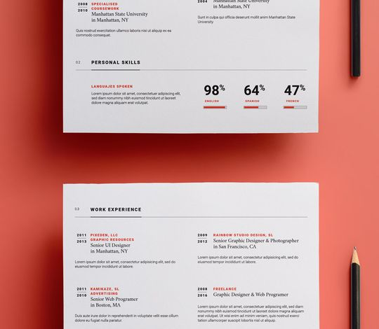 Simple Resume Template vol12
