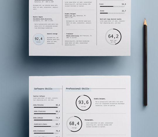Simple Resume Template vol14