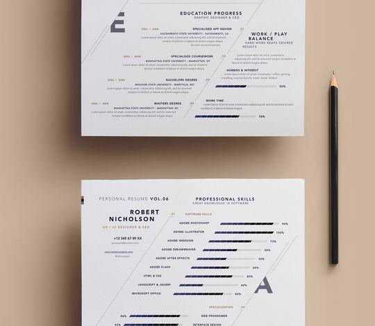 Simple Resume Template vol7